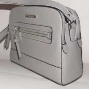 Grey Leather Cross Body NWT
